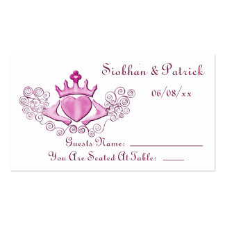 The Claddagh (Pink) Business Card