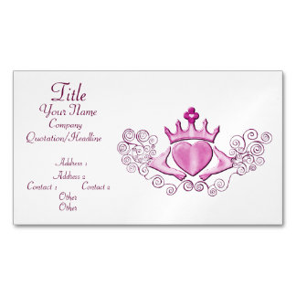 The Claddagh (Pink) Business Card Magnet
