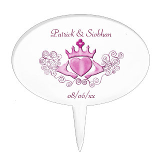 The Claddagh (Pink) Cake Topper