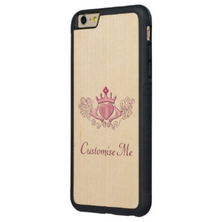 The Claddagh (Pink) Carved Maple iPhone 6 Plus Bumper Case