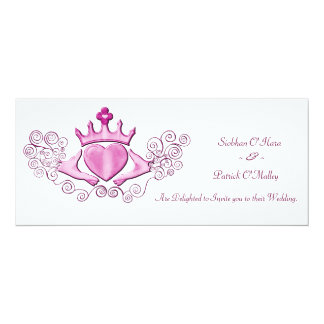 The Claddagh (Pink) Custom Announcement Cards