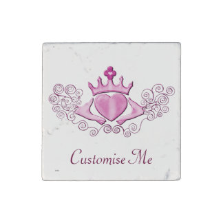 The Claddagh (Pink) Stone Magnet