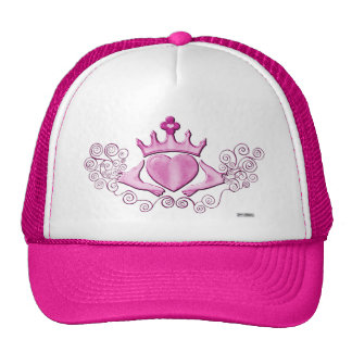 The Claddagh (Pink) Trucker Hat