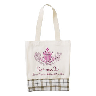 The Claddagh (Pink) Zazzle HEART Tote Bag