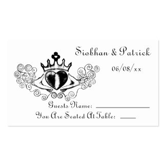 The Claddagh Placement Cards (Black) (Wedding)