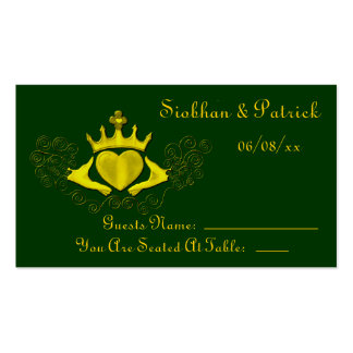 The Claddagh Placement Cards (Gold) (Wedding)