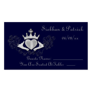 The Claddagh Placement Cards (Silver) (Wedding)