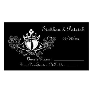 The Claddagh Placement Cards (White) (Wedding)