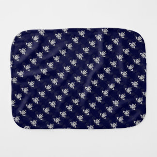 The Claddagh (Silver) Baby Burp Cloth