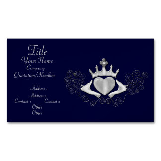 The Claddagh (Silver) Business Card Magnet