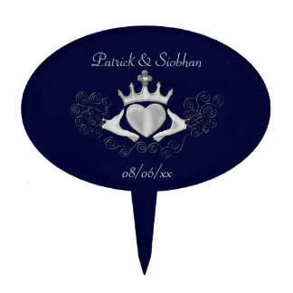 The Claddagh (Silver) Cake Topper