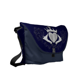 The Claddagh (Silver) Courier Bag