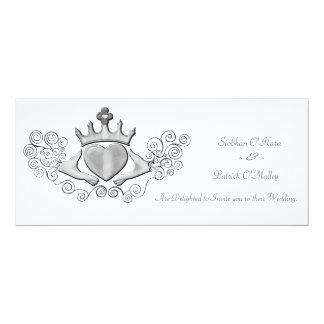 The Claddagh (Silver) Personalized Invites