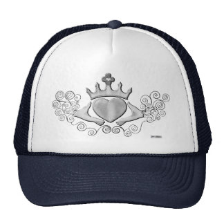 The Claddagh (Silver) Trucker Hat