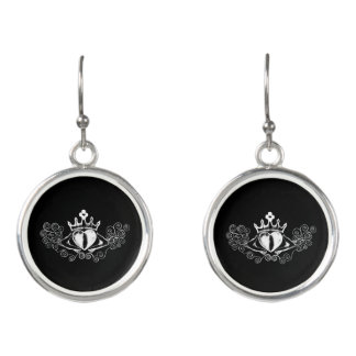 The Claddagh (White) Earrings