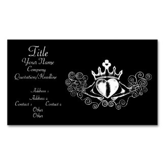 The Claddagh (White) Magnetic Business Card