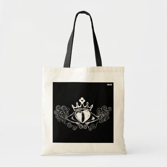 The Claddagh (White) Tote Bag