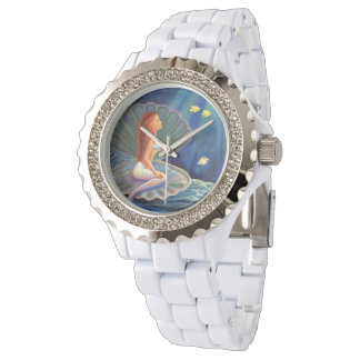 The Clamshell Mermaid by Susan Rodio Wrist Watch
