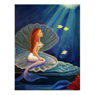 The Clamshell Mermaid - Postcard