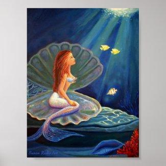 The Clamshell Mermaid Print zazzle_print