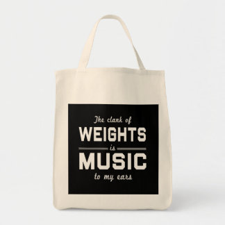 The Clank of Weights Grocery Tote Bag