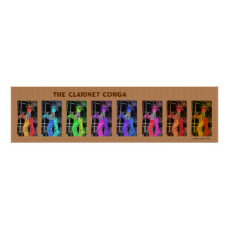 The Clarinet Conga Poster