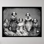 The Clark Sisters Daguerreotype 1845 Posters