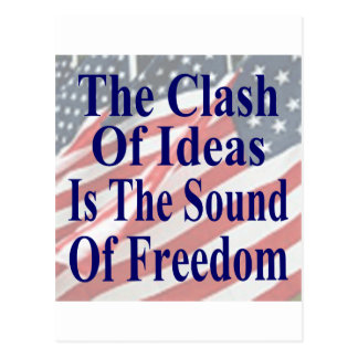 The Clash of Ideas is the Sound of Freedom Postcard