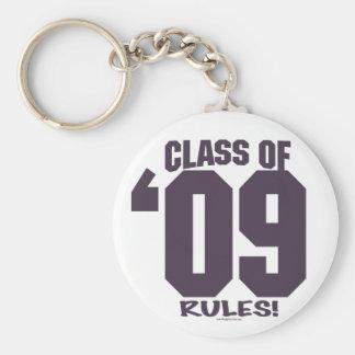 The Class of 2009 Rocks Grad Gear Keychains