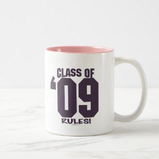 The Class of 2009 Rocks Grad Gear Two-Tone Coffee Mug