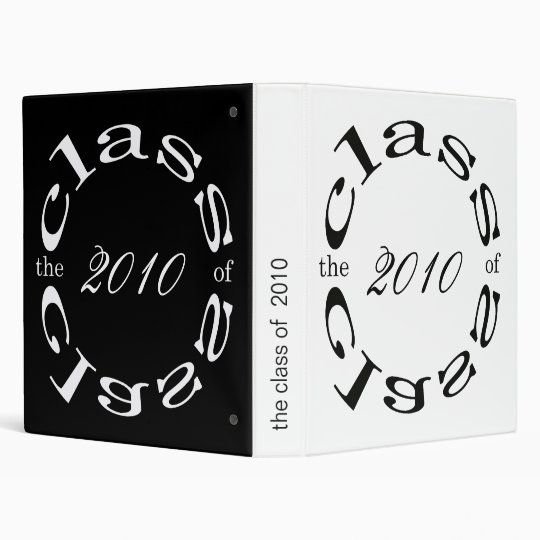 the class of 2010 3 ring binder