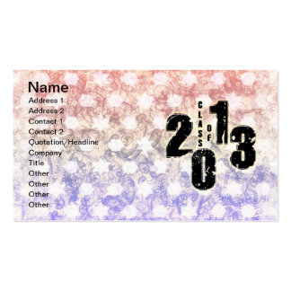 THE CLASS OF 2013 BUSINESS CARD TEMPLATES