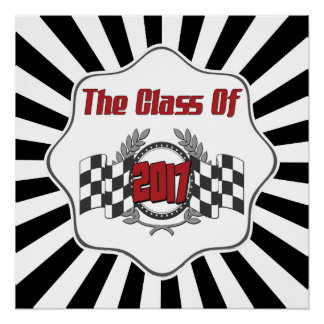 The Class of 2017 Graduation Checkered Flag Poster