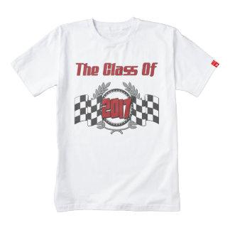 The Class of 2017 Graduation Checkered Flag Zazzle HEART T-Shirt
