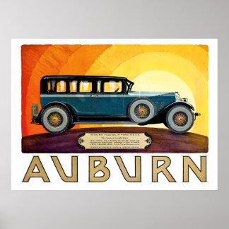 The Classic Auburn Sedan Poster