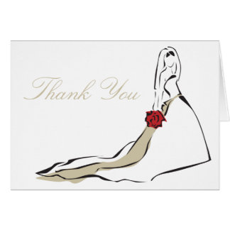 The Classic Bride Folded Note Card
