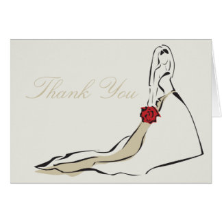 The Classic Bride Folded Note Card- Ivory Card