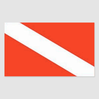 The Classic Diver Down Flag Rectangular Sticker