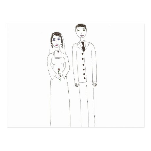 The Classic wedding Post Cards