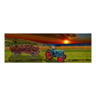 The classical tractor Hanomag R22 Poster