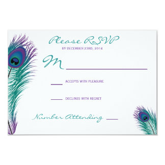 The Classy Peacock RSVP Invitation