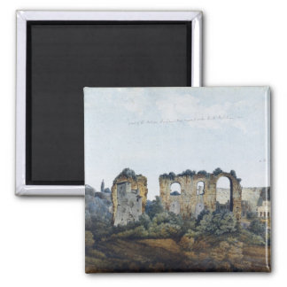The Claudean Aqueduct and Colosseum, 1778 (w/c ove Magnet