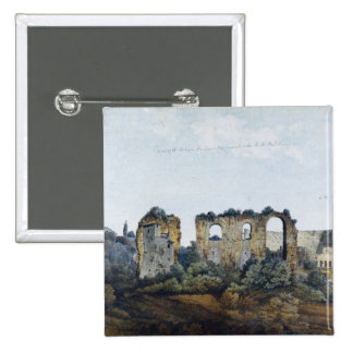 The Claudean Aqueduct and Colosseum, 1778 (w/c ove Pinback Button
