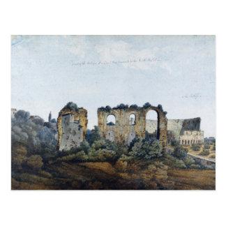 The Claudean Aqueduct and Colosseum, 1778 (w/c ove Postcard