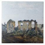 The Claudean Aqueduct and Colosseum, 1778 (w/c ove Ceramic Tile