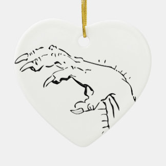 The Claw Double-Sided Heart Ceramic Christmas Ornament