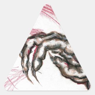 The Claw Triangle Sticker