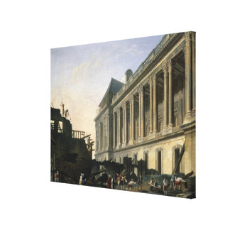 The Clearing of the Louvre colonnade, 1764 Canvas Print