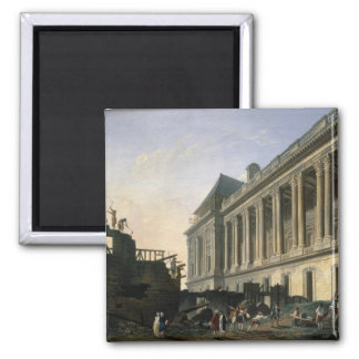 The Clearing of the Louvre colonnade, 1764 Magnet