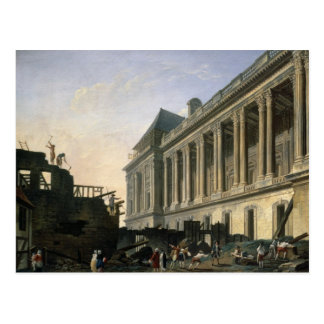 The Clearing of the Louvre colonnade 1764 Postcard